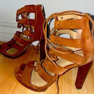 Michael Kors gladiator lace up block heels